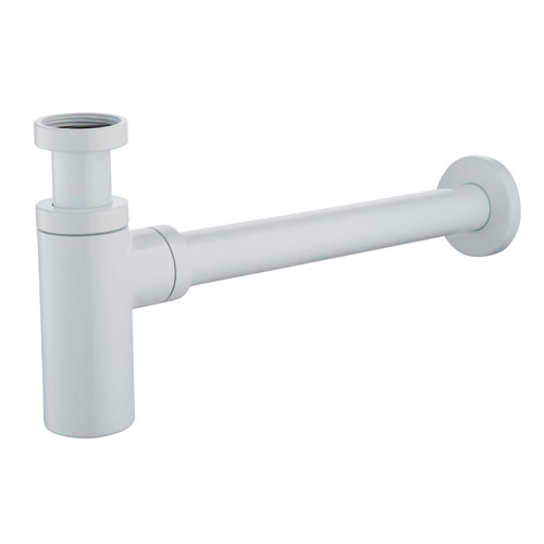 Siphon lavabo totem version court blanc
